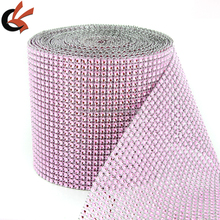 4.75&quot;<strong>x10</strong> Yards Silver DIAMOND MESH WRAP ROLL SPARKLE RHINESTONE Crystal Ribbon