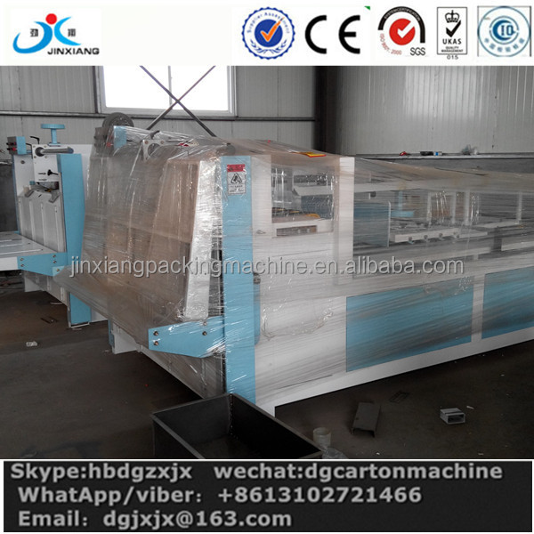 good quality semi auto corrugated carton box folder gluer machine