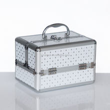 Wholesale popular fashionable silver custom aluminum cosmetic case with lock