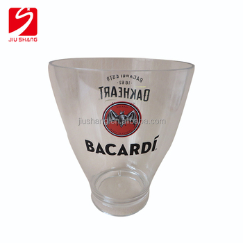Branded logo transparent plastic ice bucket for beer using