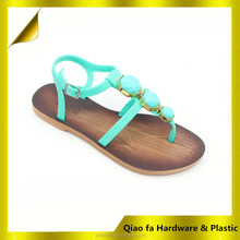 Green New Nice Bead Ladies Sandals Slippers For Women