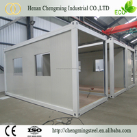 China Best Supplier commercial prefab shipping containers with grass and lamp