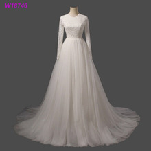 Floor-Length Hemline and Classic wedding dresses bridal gown Style islamic women wedding dresses