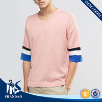 Guangzhou shandao factory v-neck half sleeve180g 100%polyester mens fashionable clothes online shopping