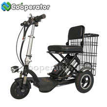 China Factory Cheap 48V Folding Electric Tricycle Adults, Electric Tricycle Pedal Assisted, Tricycle for Elderly