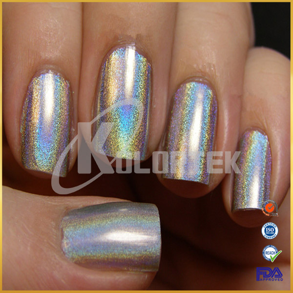 How Does Powder Nail Polish Work: 2018 Unicorn Powder For Nail Polish, Holographic Rainbow