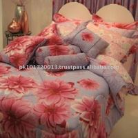 100% Cotton Dyed Bed Cover Set
