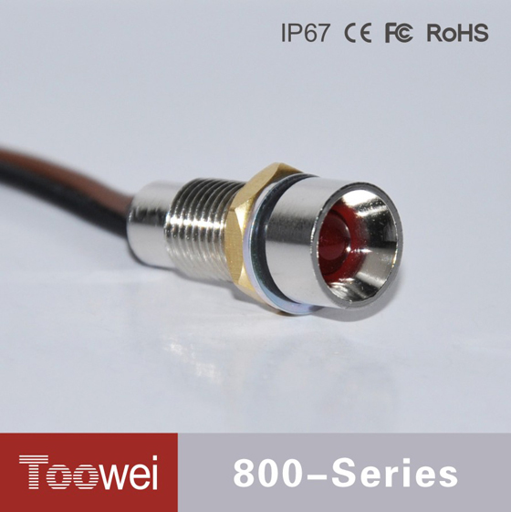 Toowei Waterproof ip67 12v indicator light with wire