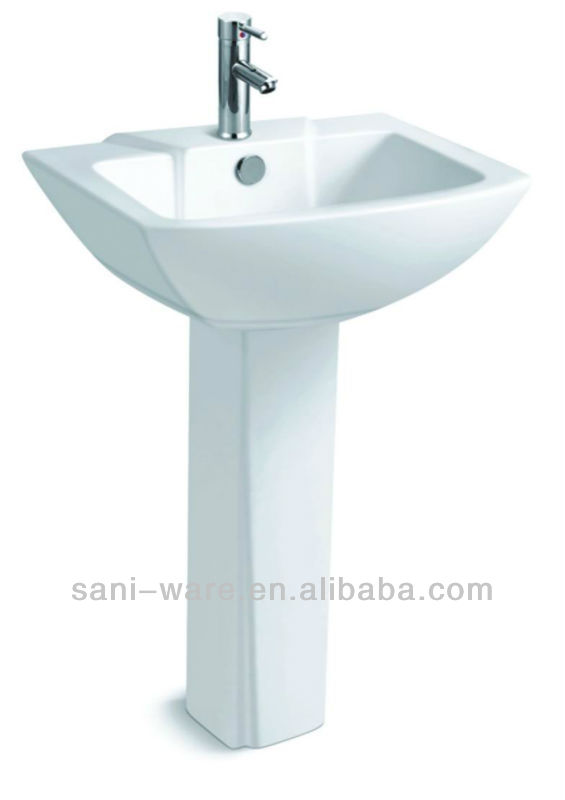 S9023 Special design two piece wash basin with pedestal