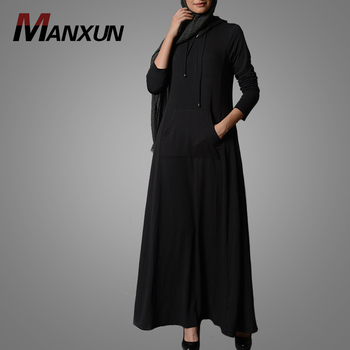 Sport  Product Type And Long Sleeve Muslim Abaya Custom Breathable Cotton Dress Plus Size Casual Dubai Clothing