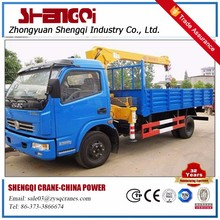hydraulic used isuzu crane truck with telescopic boom