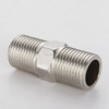 Factory plumbing thread hexagon nipples NPT stainless steel male nipples