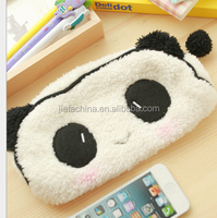 Wholesale cute promotional custom animal shaped plush pencil case
