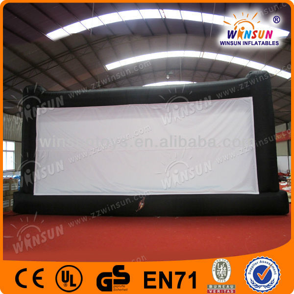 Outdoor giant used rear projection inflatable movie screen for sale