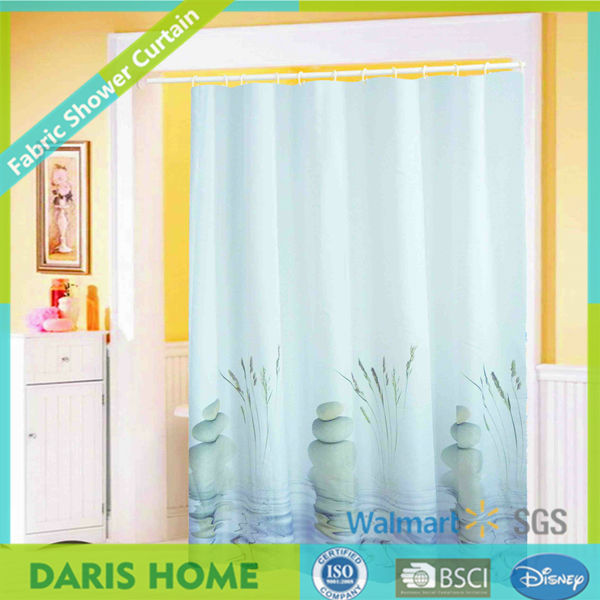 Home Goods Eco Friendly Black Light Stuff Shower Curtain Free Sample