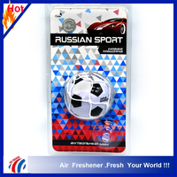 football shape sport classics air freshener/hanging car air freshener pendant good smell last long