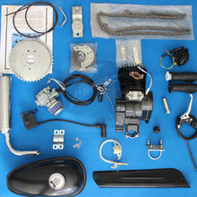 2 Stroke 80cc Gas Bicycle Silver/Black/Blue Cylinder Body Gasoline Engine Kit For Motorized Bicycle