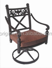European style kitchen dining room furniture vintage suitable price swivel cast aluminum chair