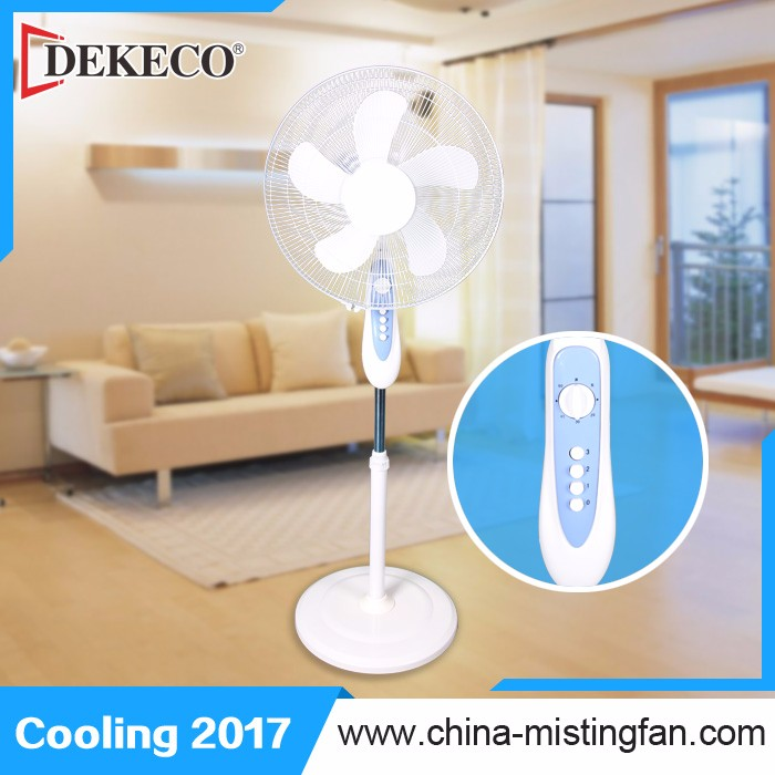 16 Inch small oscillating Electric stand fan spare parts manufacturer