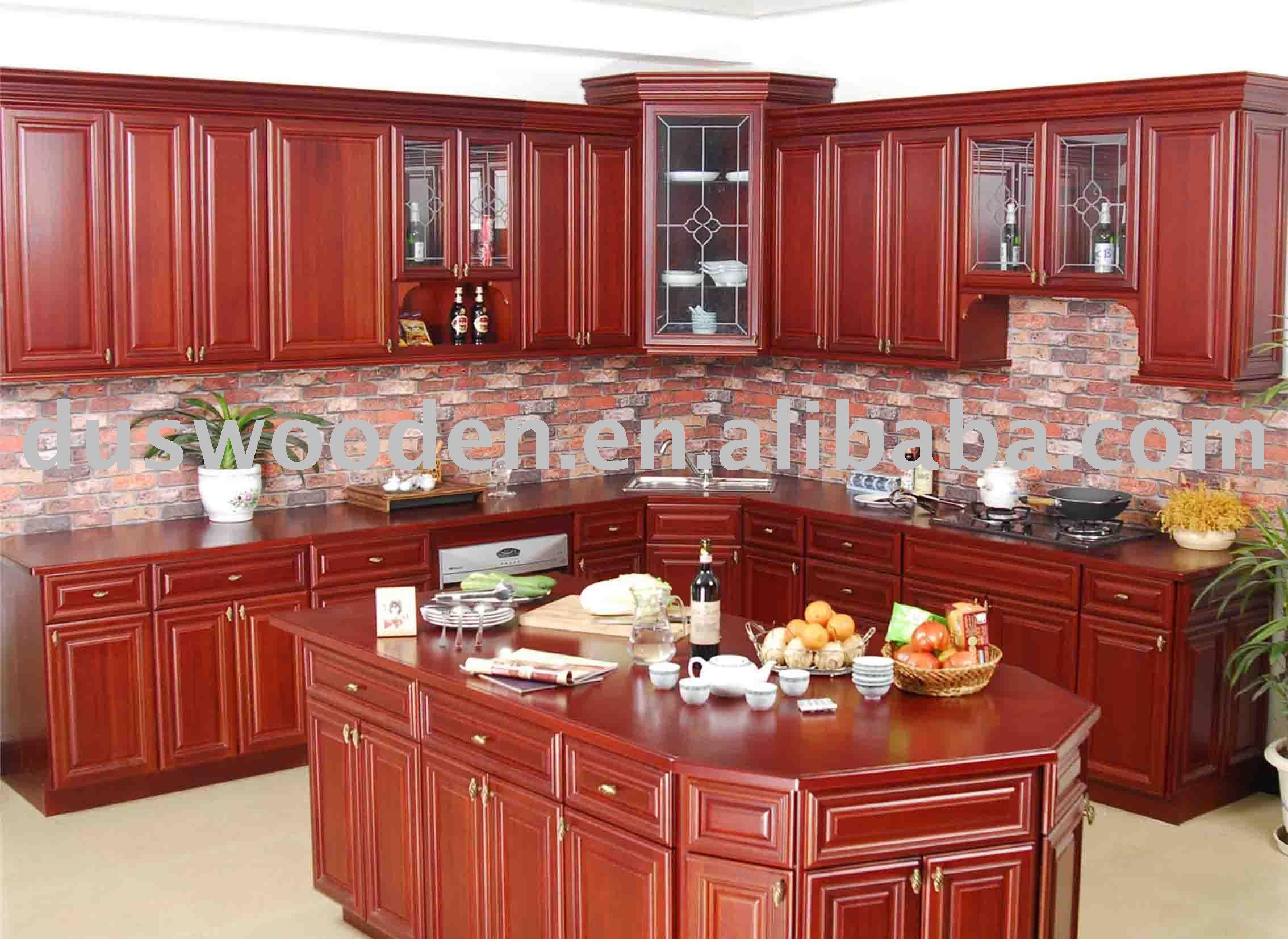 Armário De Cozinha Em Madeira Maciça Móveis para cozinha  #863026 2268x1653