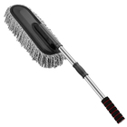 Multifunction car microfiber flexible duster with plastic handle