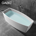 Artificial stone two sided bathtub