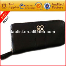 Long Style Ladies pu Purse Black Ladies Purse