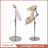 Yidear Round Base Adjustable Metal Shoe Display Stands for Shoe Store