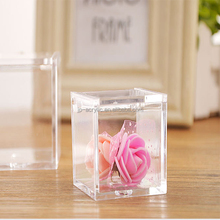 The transparent cube of plastic produced by the original factory is a flower box