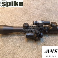 Spike Combo Scope, Riflescope +red dot sight+ red laser sight red dot, Hunting 3 in 1 Scope 3-9x40