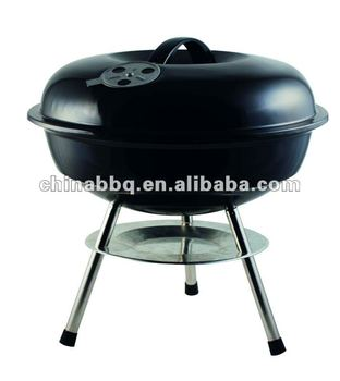14'' kettle bbq grill with three legs
