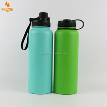 Hiking/climbing/sporting/yoga drinking thermos water bottle with straw lid 40oz hydro flask D-05-32