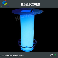 plastic Illuminated LED Ice Bucket Table w/Glass for night club