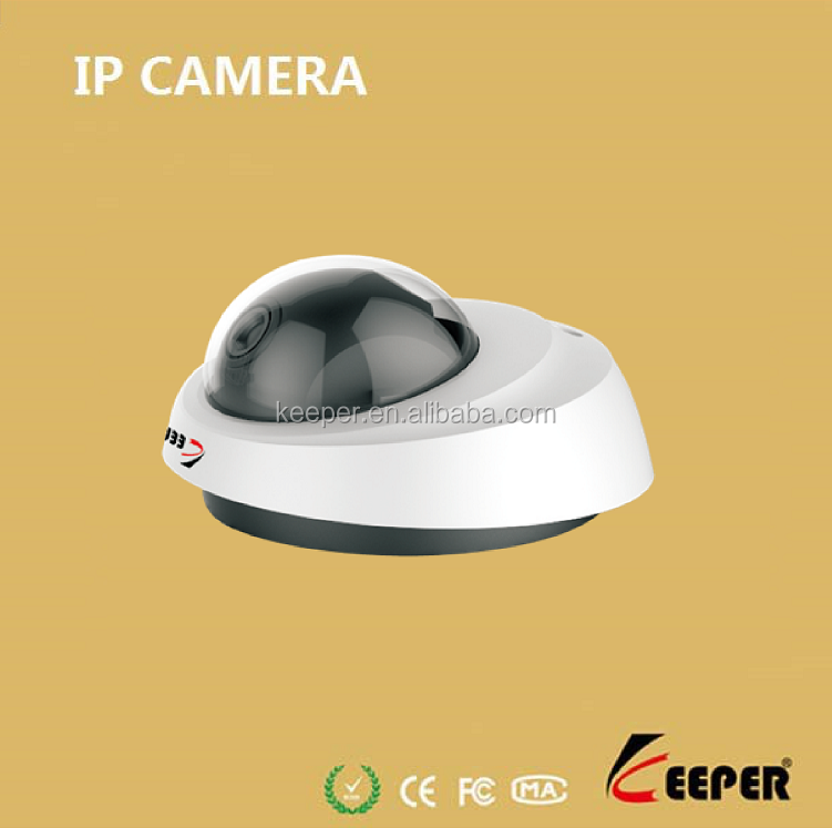 keeper factory low cost megapixel 3.6mm lens mini dome IP camera with 3G mobile monitor