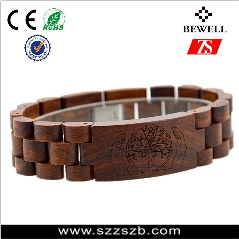 2016 new wood stuff natural wood bracelet for man and women with custom logo
