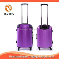 Striped With corner Rubber Rolling Luggage