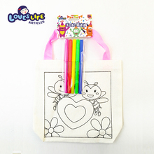 Sell well new type lovely DIY cartoon bee cheap non woven gift tote bag
