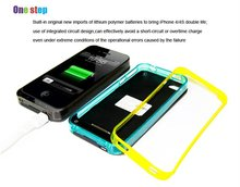 iFans 1700mAh changeable bumper battery case for iPhone4 4s with MFi
