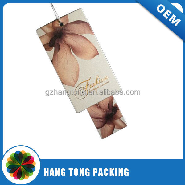 First one in the world coming new craft paper clothing hang tag from china