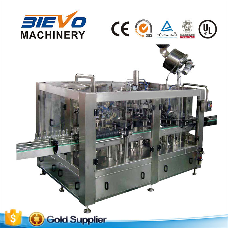 Automatic glass bottle draft beer filling and bottling machine for exporting europe