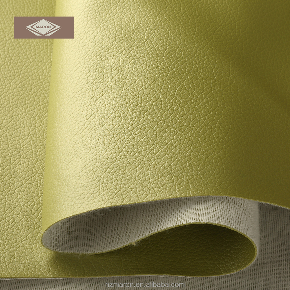 Green artificial leather PVC for sofa/ upholstery