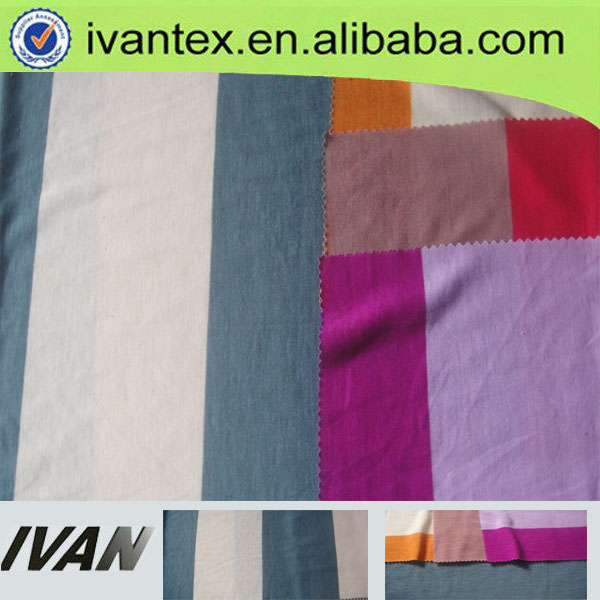 100% polyester feeder stripe fabric