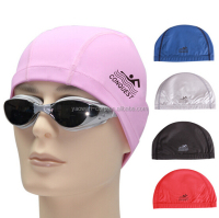 hot spring Swimming pool PU Coating ear Protection Swimming Cap