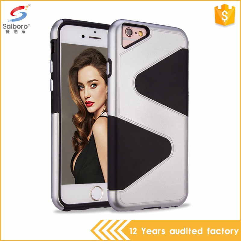 Popular style bulk cheap s shaped tpu pc case for i phone7