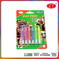 6 color face paint kids crayon face painting