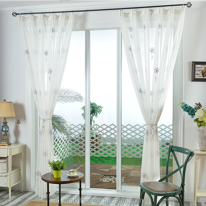 Italian style Embroidery window curtain tulle,China Supplier Fancy Curtain Designs Embroidery Curtain