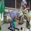 Artificial Interactive Animated Electric Walking Dinosaur Model