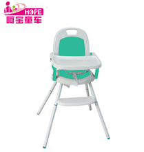 Convertible 3 in 1 Foldable Baby High Chair Made of Steel and PP Materials