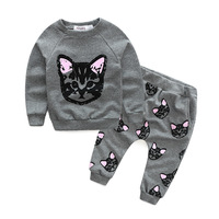 Baby Girl's Autumn Outfits Pictures Of Pant And Shirt For Girls Clothing Cat Set