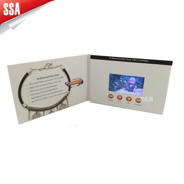 "high resolution 7"" video advertising gadget with High-Definition Video"